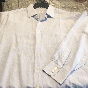 Brooks Brothers linen dress shirt 17 1/2 - 35